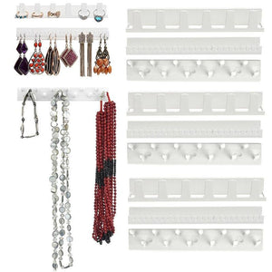 Wall Hanging Shelf Jewelry Necklace Rings Earrings Keys Display Stand Rack Holder Organizer