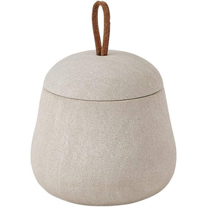 Impala Sand Stone Cosmetic Storage Makeup and Jewelry Organizer Beauty Canister