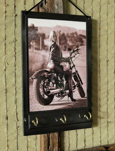 Girl Riding Motor Bike Print