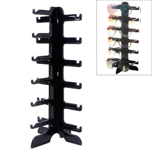 Jewelry Organizer Stand 6 level Plastic Sunglasses Eyeglass Glasses Frame Rack Display Stand