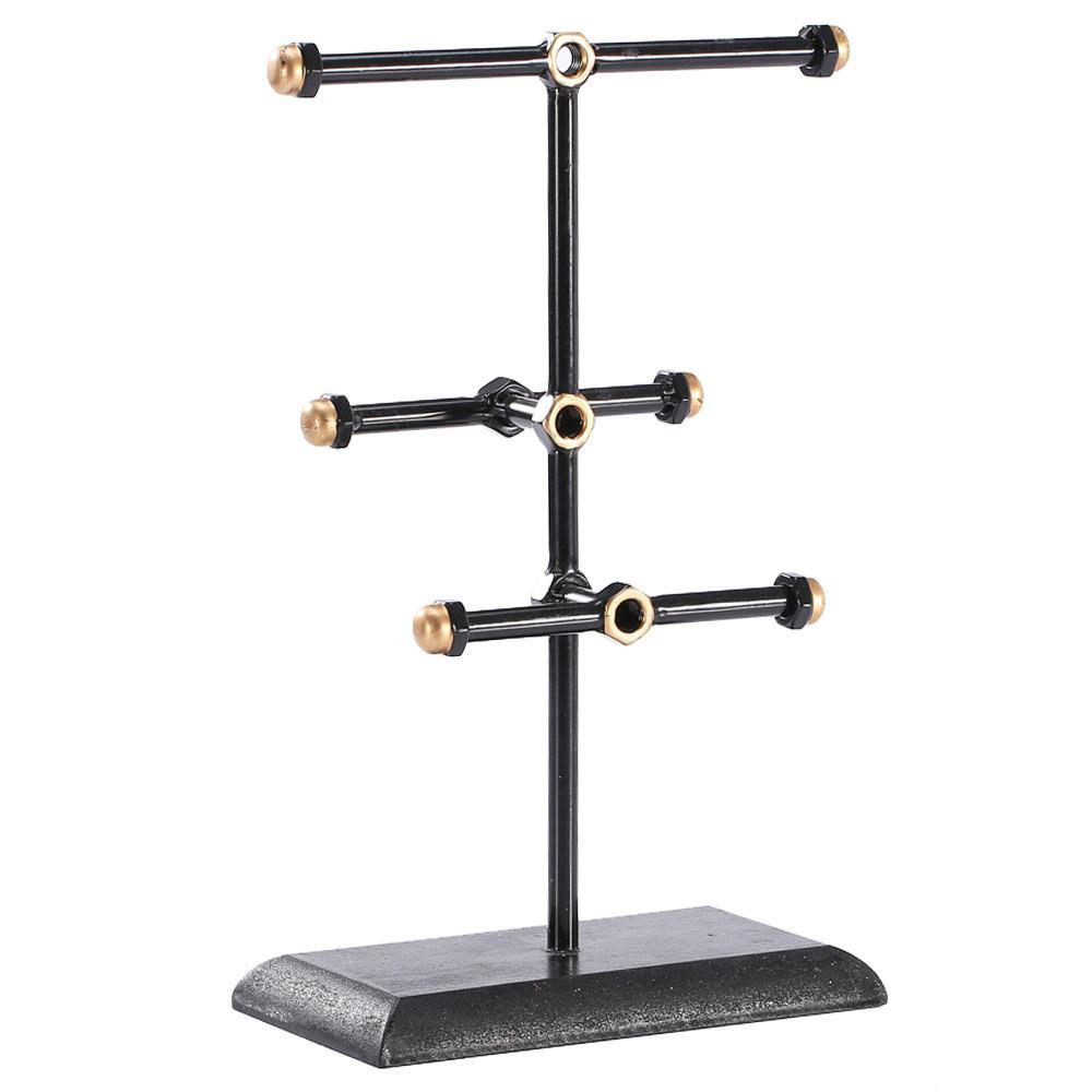 #COP3637 Metal Triple T-Bar Jewelry Display and Organizer Stand