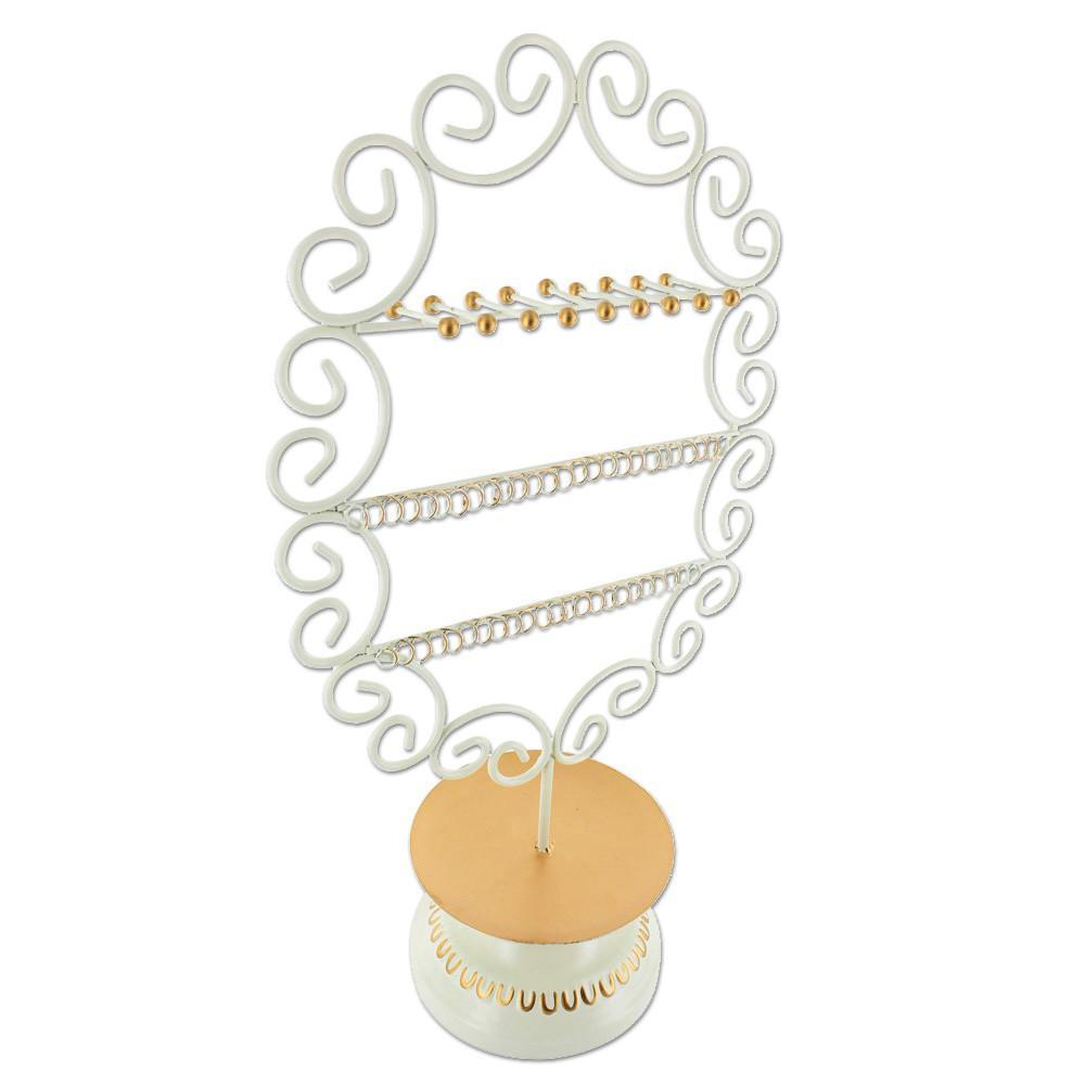 #COP3686 Round Metal Jewelry Organizer Display Stand
