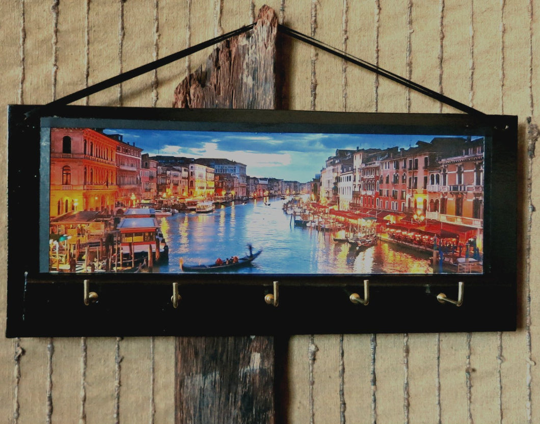 Key Rack Holder Grand Canal Venice Print