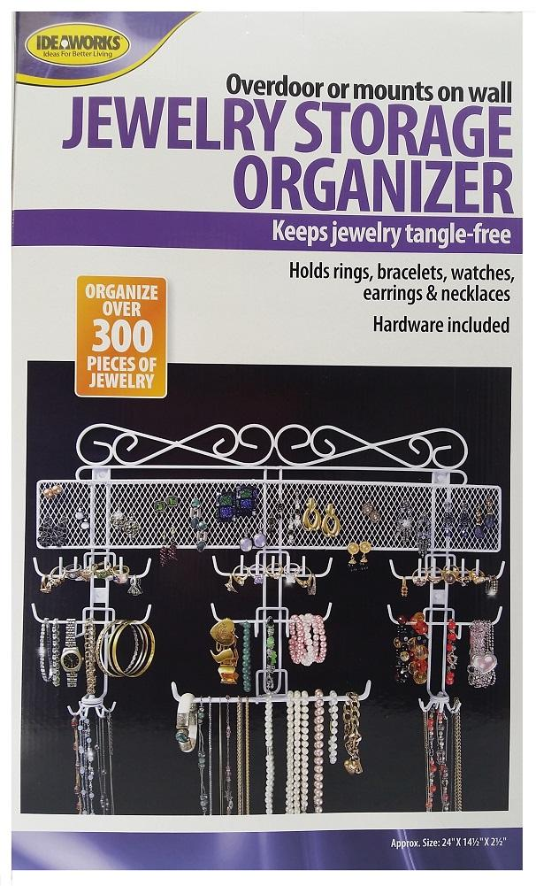Jobar Organizing Jewelry Valet, White Coated Wire 24