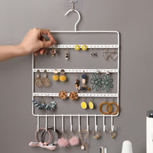 Load image into Gallery viewer, JTO 10 Hook Wall Earring Jewelry Organizer Earring Organizer Hanging Holder Necklace Display Stand Rack Holder Rack Jewelry Hanger