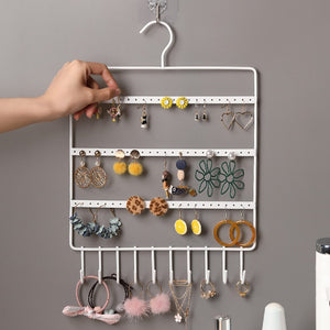JTO 10 Hook Wall Earring Jewelry Organizer Earring Organizer Hanging Holder Necklace Display Stand Rack Holder Rack Jewelry Hanger
