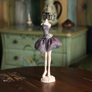 Charm Elegant High-heel Dress Lady Mannequin Jewelry Organizer Display Stand Hanging