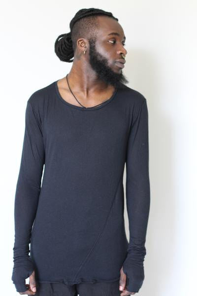 WDTS black long sleeved top
