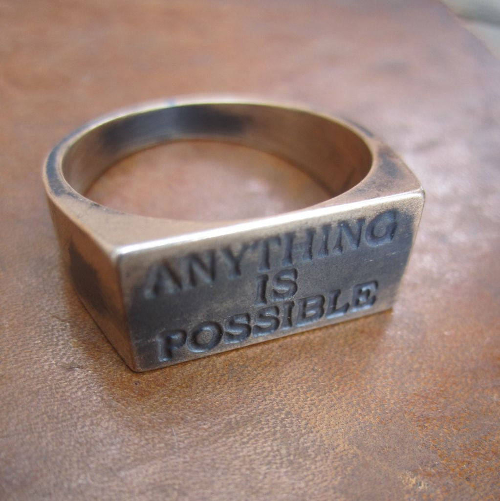 WDTS Sheffield Silver - Ring - ANYTHING IS POSSIBLE- Mixed Finish