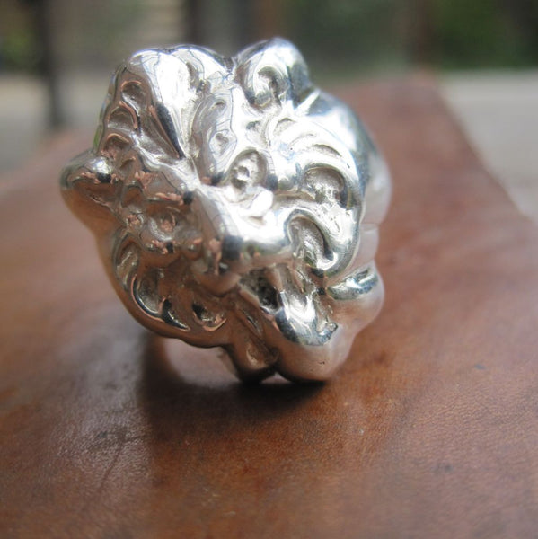 WDTS Sheffield Silver - Lion Head Ring - Silver