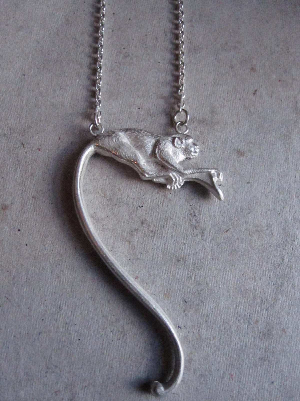WDTS Sheffield Silver - Monkey Necklace - Silver