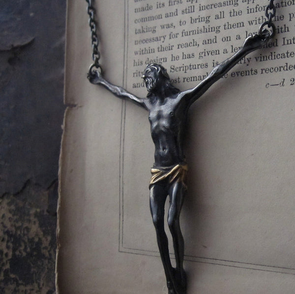 WDTS Sheffield Silver - Saviour - Oxidised Finish w/ Gold Loincloth