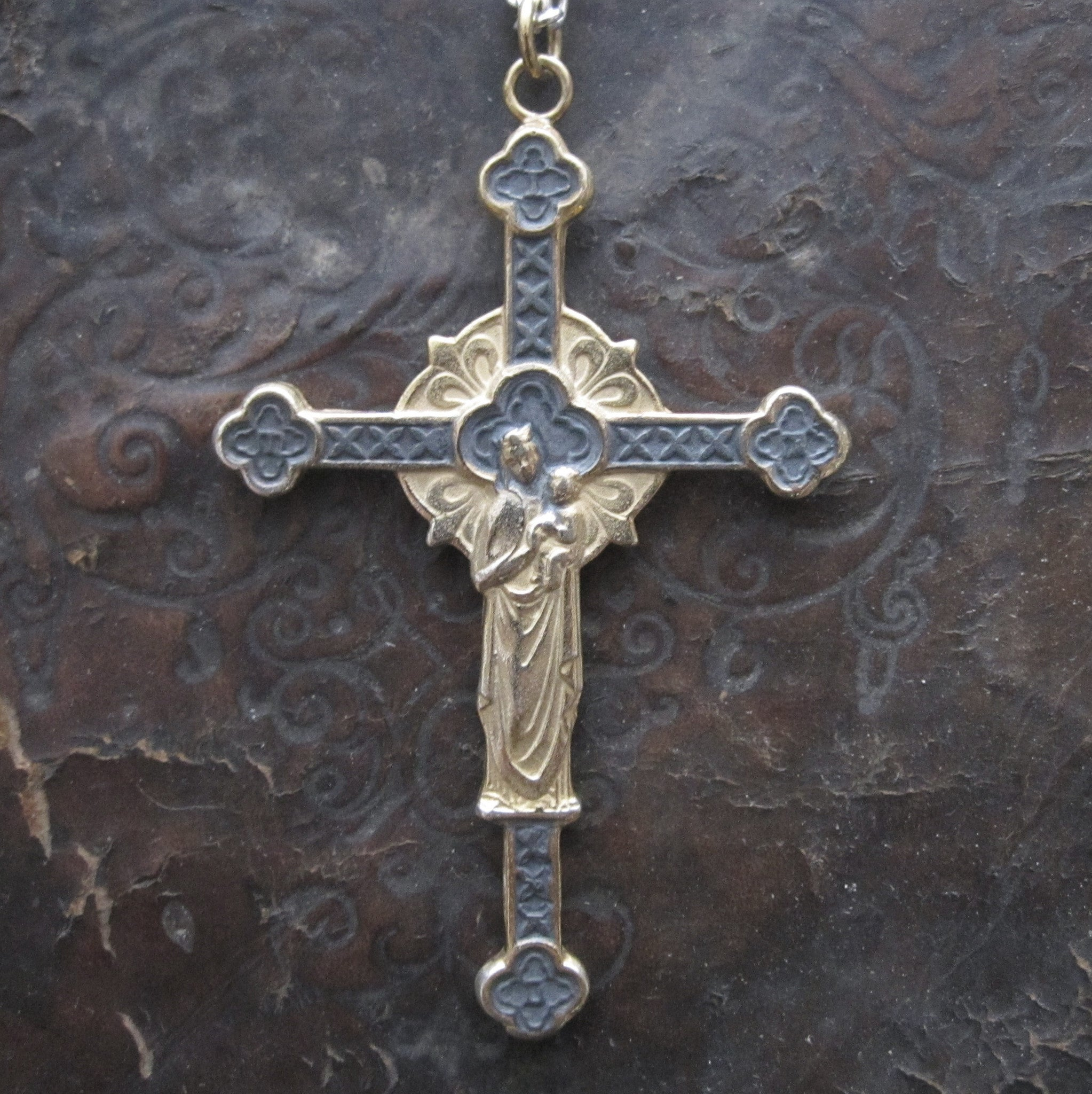 WDTS Sheffield Silver - Bilateral Cross - Oxidised & Gold Finish