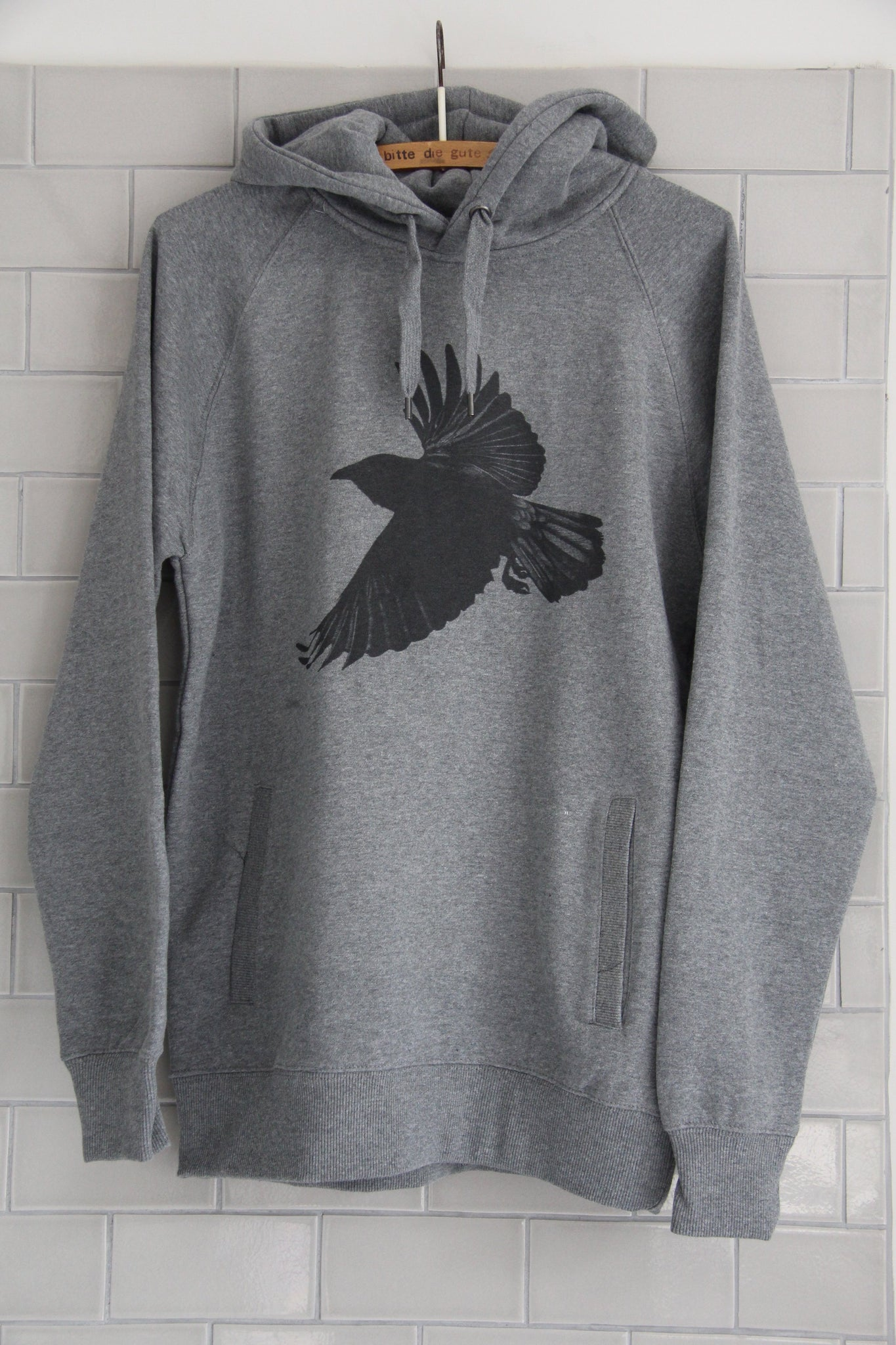 Window Dressing The Soul Crow Hoodie- LIGHT GREY