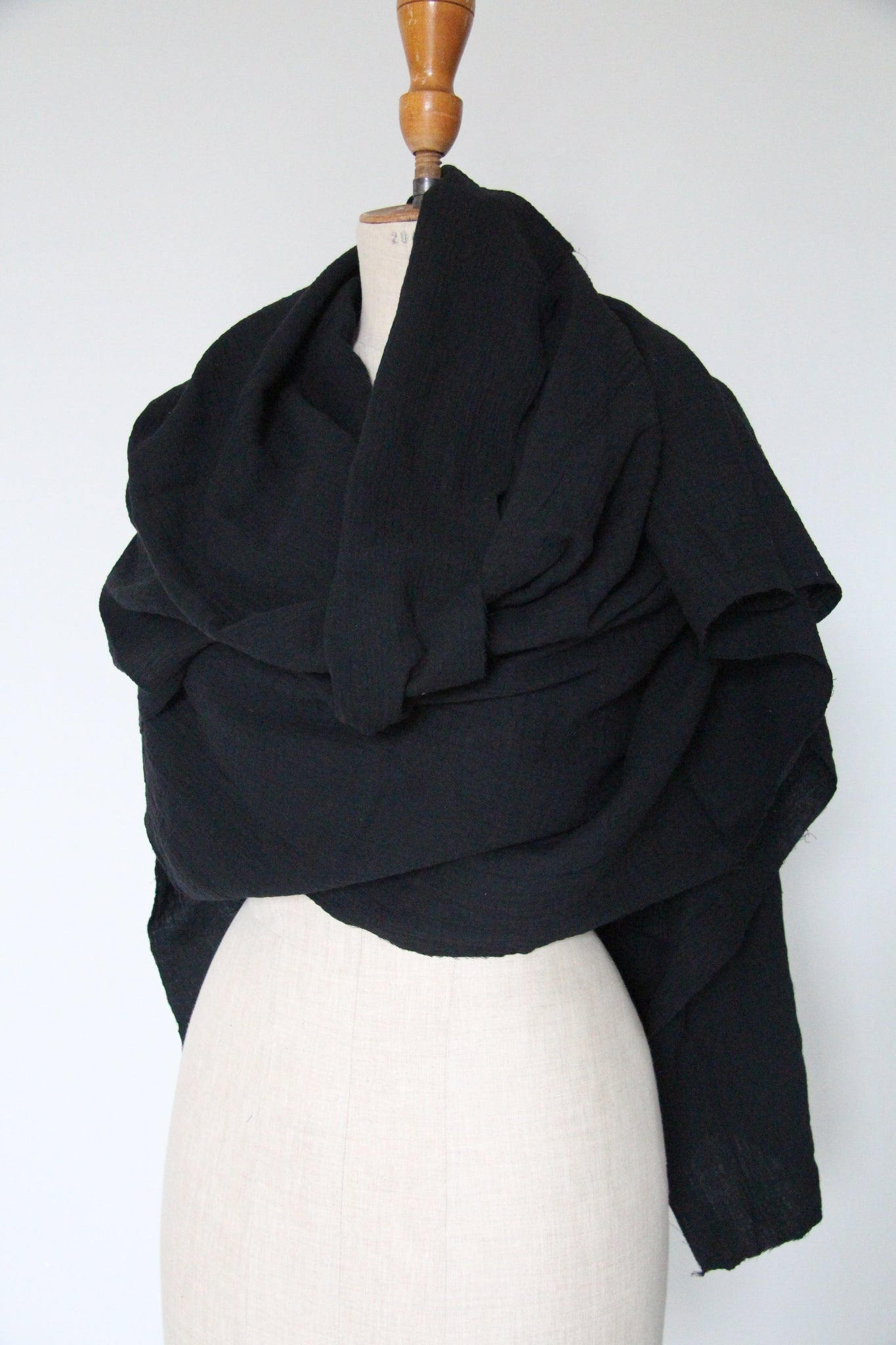 WDTS Cotton Scarf- Black