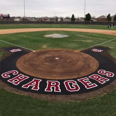 10' Home Plate Halo with Wings and Shock Pad