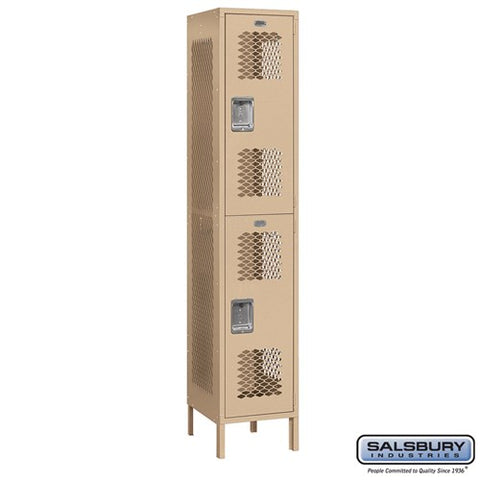 "Salsbury 15"" Wide Double Tier Vented Metal Locker - 1 Wide"
