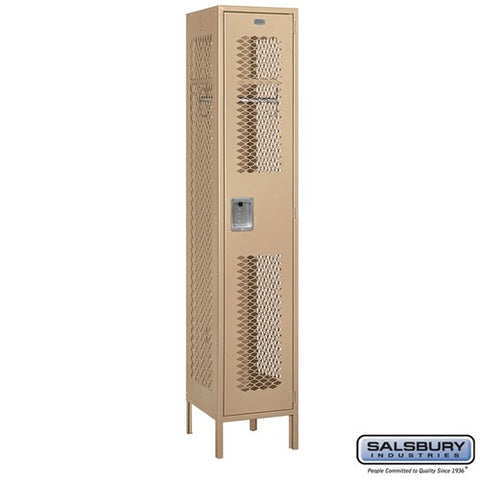"Salsbury 15"" Wide Single Tier Vented Metal Locker - 1 Wide"