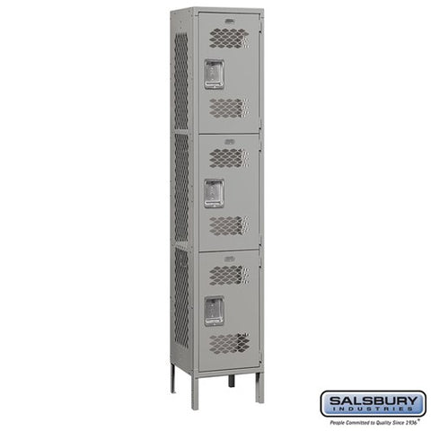 "Salsbury 15"" Wide Triple Tier Vented Metal Locker - 1 Wide"
