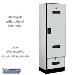"Salsbury 24"" Wide Designer Wood Gear Locker"