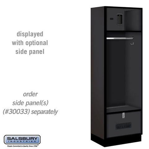 "Salsbury 24"" Wide Designer Wood Open Access Locker"