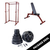 Image of Body Solid Best Fitness Power Rack with FID Bench and Barbell Package