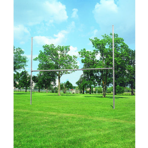 Bison 3-1/2″ Galvanized H-Style Football Goalposts - Pitch Pro Direct