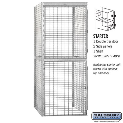"Salsbury 36"" Wide Double Tier Bulk Storage Locker"