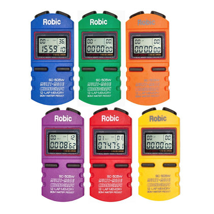 Gill Athletics Robic SC-505W Stopwatches - Set of 6