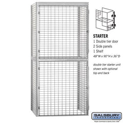 "Salsbury 48"" Wide Double Tier Bulk Storage Locker"
