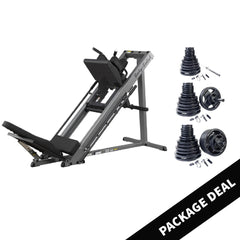 Body Solid Leg Press and Hack Squat with Rubber Grip Set Package