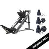 Image of Body Solid Leg Press and Hack Squat with Rubber Grip Set Package