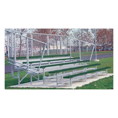 Powder Coated Aluminum Bleachers With Fencing