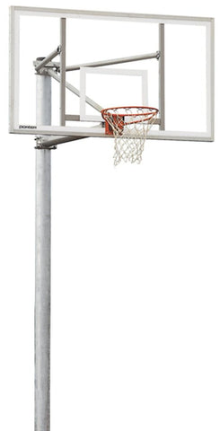 Single Vertical Post Basketball System with 4' Extension