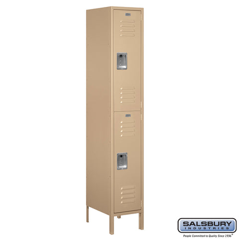 "Salsbury 15"" Wide Double Tier Standard Metal Locker -1 Wide"