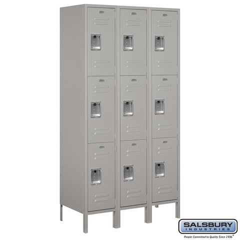 "Salsbury 15"" Wide Triple Tier Standard Metal Locker - 3 Wide"