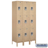 "Image of Salsbury 15"" Wide Triple Tier Standard Metal Locker - 3 Wide"