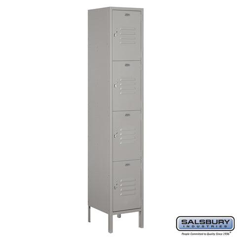 "Salsbury 15"" Wide Four Tier Standard Metal Locker - 1 Wide"