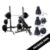 Image of Body Solid Bench Rack Combo with Rubber Grip Olympic Set Package