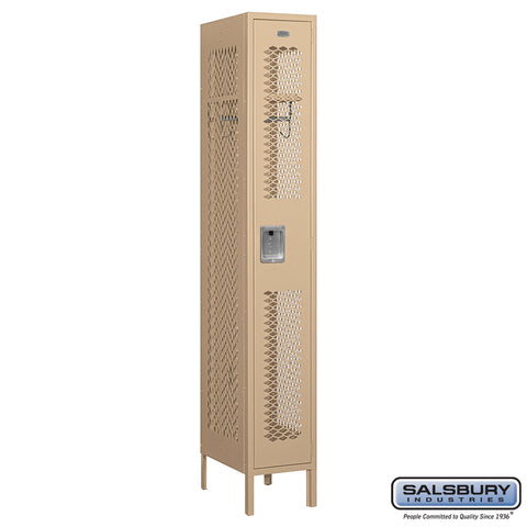 "Salsbury 12"" Wide Single Tier Vented Metal Locker - 1 Wide"