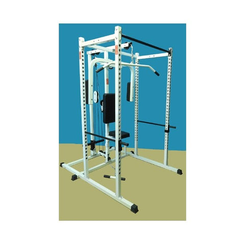 New York Barbells Power Rack Gym with DLX PEC Deck & LAT Attachment