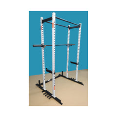 New York Barbells Power Squat Cage with Two Pull Up Bars & Band Holders