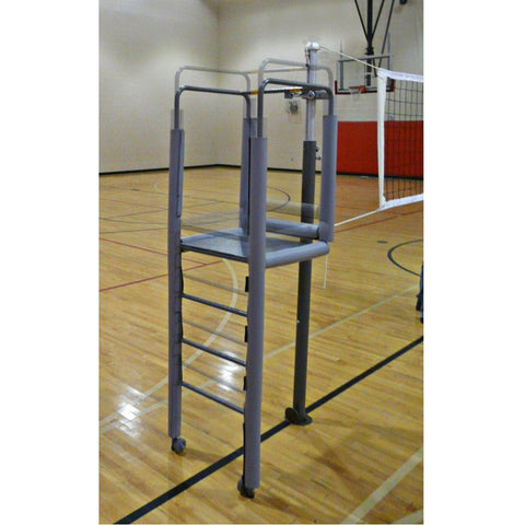 Adjustable Height Clamp-on Volleyball Officials Platform with Padding - Pitch Pro Direct