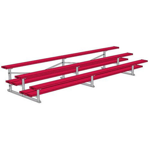 JayPro 3 Row 15' All Aluminum Preferred Bleacher Powder Coated Pink