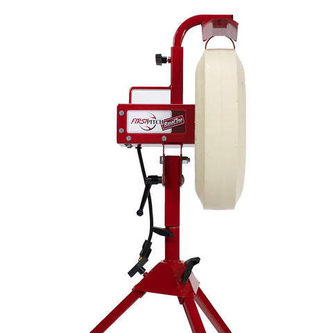 First Pitch Baseline Pitching Machine for Baseball and Softball