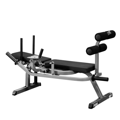 Body Solid Horizontal Ab Crunch with Rubber Grip Plate Package