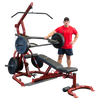 Image of Body Solid Corner Leverage Gym with Extreme Bumper Plate Package