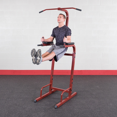 Body Solid Red Vertical Knee Raise Dip Station BFVK10