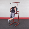 Image of Body Solid Red Vertical Knee Raise Dip Station BFVK10