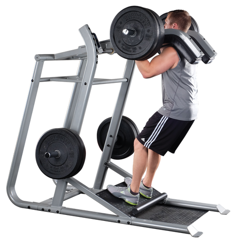 Body Solid Pro Clubline Leverage Squat with Bumper Plates Package